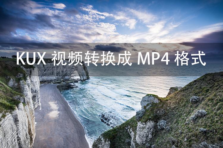 如何将KUX视频转换成MP4格式